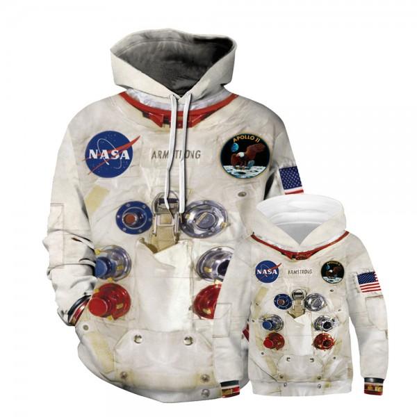 NASA Astronaut Hoodie Sweatshirt For Men Women Kids Family Matching Adult Children