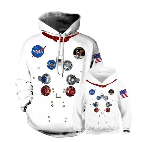 NASA Spaceship Hoodie Sweatshirt For Men Women Kids Family Matching Adult Children