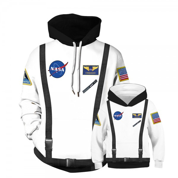 NASA Space Hoodie Sweatshirt For Men Women Kids Family Matching Adult Children
