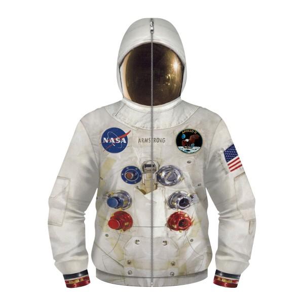 Kids NASA Full Zip Up Hoodie Jacket