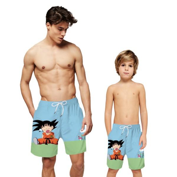 Dragon Ball Goku Swim Trunks Shorts Anime 3D Beach Shorts For Men Boys