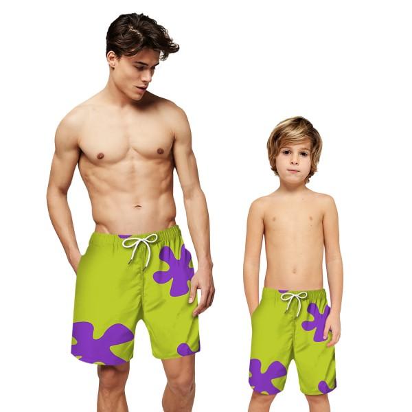 Green Swim Trunks Shorts 3D Beach Shorts For Men Boys