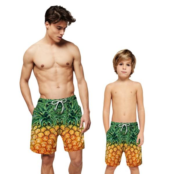 Pineapple Pattern Swim Trunks Shorts 3D Beach Shorts For Men Boys