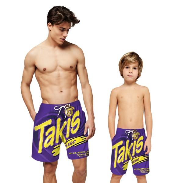 Cheetos Takis Pattern Swim Trunks Shorts 3D Beach Shorts For Men Boys